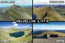 SOUVENIR FRIDGE MAGNET of HELVELLYN LAKE DISTRICT