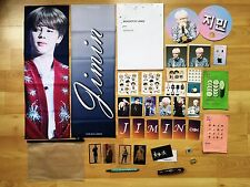 JIMIN BTS BANGTAN OFFICIAL FANSITE Slogan Photo Book Card Sticker Gold Badge Pin