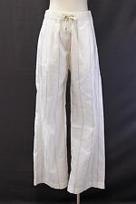 NWT$1795 Brunello Cucinelli Sparkly Monili Bead Striped Wide Leg Dress Pant 42/6