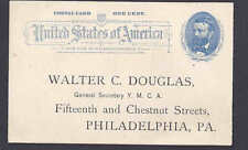 1893 UX11 UNPOSTED PREPRINTED POSTAL FOR 38TH ANNIV OF YMCA IN PHILA