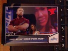 2013 Topps Best of WWE #3 Daniel Bryan Breaks Up With AJ Lee RED Mint