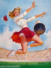 1940s Pin-Up Girl The Cheerleader Picture Poster Print Art Pin Up