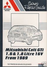 Mitsubishi Colt GTi 1.6 / 1.8 16V 1989 on, repair guide