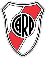 "CA River Plate Argentina Football Soccer Vinyl Car Bumper Sticker Decal 4""X5"""