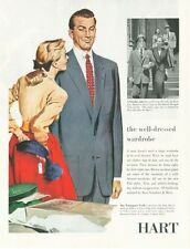 1952 Hart Schaffner & Marx Fashion Suit  -The Trumpeter Twill  PRINT AD