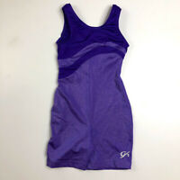 GK Elite CM Gymnastics Unitard Leotard Purple Shimmer Child Large XLarge