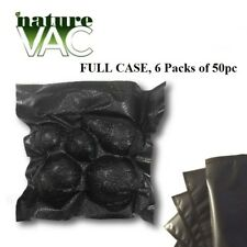 6 Pack NatureVAC 15''x20'' 50pc Precut Vacuum Seal Bags ALL BLACK USA FREE SHIP