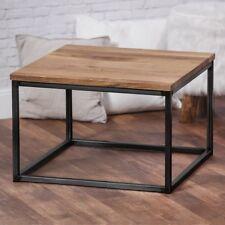 BestLoft® Couchtisch Wohnzimmertisch Tisch Eiche massiv Metallgestell schwarz