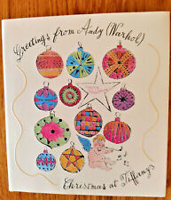 Greetings From Andy Warhol Mid Century Christmas at Tiffany's Cards 2004 book