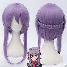 Seraph of the End Shinoa Hiragi Light Purple Short Braid Temple Cosplay Full Wig