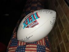 Nfl/Wilson the duke football with autographs W Moon Tj Housmanzotta Neal Racker
