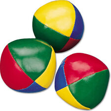 NEW GREAT Junior Set of 3 JUGGLING BALLS beanball red blue yellow Juggle Trick