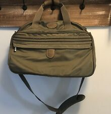 Vintage Atlantic Luggage Travel Bag Carry On Luggage Olive Green