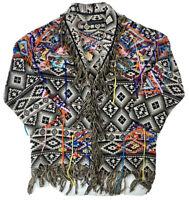 Zara Woman Colorful Aztec/Western Jacket, Sz 5 (XL READ!) Tassles & Fringe