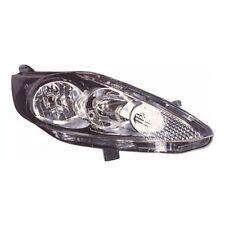For Ford Fiesta Mk7 10/2008-13 Headlight Headlamp Lamp Black Drivers Side OS