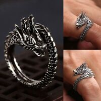 Neu Mode Öffnung Verstellbarer Silber Drachen Ring IhtHl