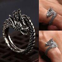 Neu Mode Öffnung Verstellbarer Silber Drachen Ring iGRYp flYfE