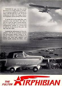 Old Print.  1949 Fulton Airphibian