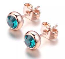 Crystal Earrings Sea Blue Beach Holiday Jewellery Birthday Gift Jewelery
