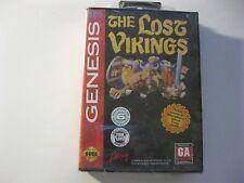 The lost Vikings Sega Genesis game Factory sealed hard case not ballistic