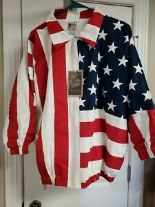 Unisex American Flag Jacket Red White and Blue Limited Edition U.S.A Size XL NWT