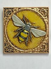 Harmony Kingdom art Neil Eyre Designs Honeycomb Honey Bee gold leaf magnet