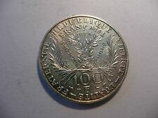 100 francs 1984  marie curie argent  14,9 gr  SUP +