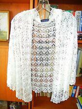 Helen Welsh Hand Crochet. Scarf /Shawl / Light Cream