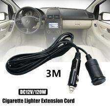 3M 12V Car Cigarette Lighter Socket Extension Cable Cord Car Charger Power Plug