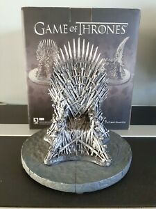 """Game Of Thrones 7"""" Iron Throne Replica Dark Horse By Gentle Giant (Comme Neuf)"""