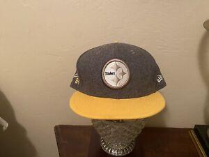 Pittsburgh Steelers New Era Wool Blend Hat.. Size 7 5/8