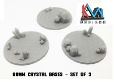 3D Printed - 60mm Scenic Crystal Cluster Bases
