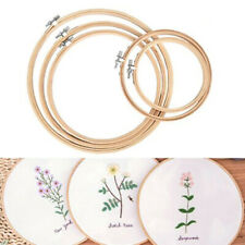5pcs Embroidery Hoops Circle Cross Stitch Bamboo Ring Sewing Frame Art Craft zxc
