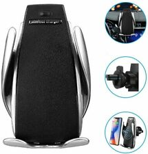 Automatic Retractable Clip Fast Charging Wireless Car Charger for iPhone Samsung