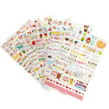 6 Blätter Schön Mädchen Paper Sticker Diary VintageDekoration Scrapbooking Wort