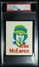 1979 Panini Super Stickers John McEnroe Rookie Sticker RC PSA 4 Rare! Tennis HOF