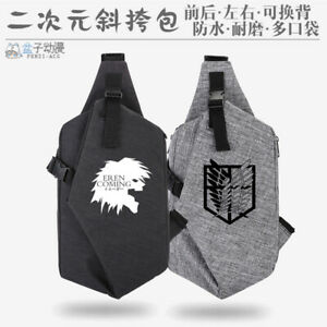 Anime Attack on Titan Cosplay Unisex Casual Canvas Messenger Bag knapsack Gift