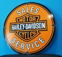 VINTAGE HARLEY DAVIDSON MOTORCYCLE PORCELAIN GAS BIKE SERVICE STATION SIGN