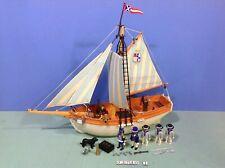 (O3740.1) playmobil Ancien bateau shooner pirates ref 3740 complet année 1991