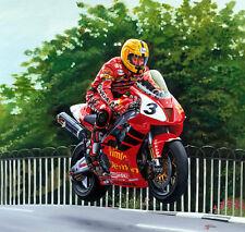 JOEY DUNLOP HONDA VTR SP1 isle of man tt Moto Racing Moto Art Imprimé