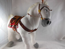 """Disney Store MAXIMUS Plush White Horse from Tangled 14"""" Poseable Legs Clean"""