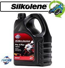 1x Silkolene Pro 4 Plus Fully Synthetic 10w-50 High Performance Bike Oil 4l
