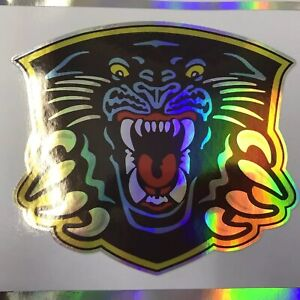 Nottingham Panthers Rainbow Metallic Vinyl Sticker