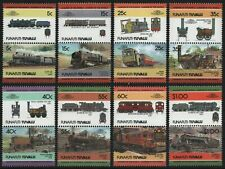 Tuvalu - Funafuti 1984 - Mi-Nr. 21-36 ** - MNH - Lokomotive / Locomotives