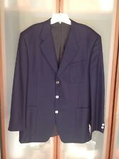 CANALI MENS $1450 NAVY 100% CASHMERE 3 BUTTONS JACKET NWTAG DEFECT SZ 50 ITALY
