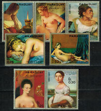 Paraguay Art French Famous Paintings Nudes set 1969 MLH
