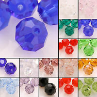 5000 100pcs Round 3mm/4mm/6mm/8mm Austria Crystal Beads Loose Jewelry Charm Pick