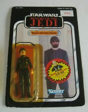 1980s Kenner Star Wars ROTJ Bespin Security Guard White Figure MOC 77 Back #BX53