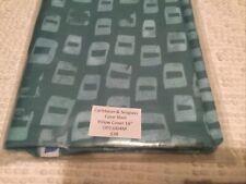 "USA Cushion Throw Pillow Cover case Abstract Minimalist SeaGlass Cotton Zip18"""