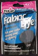 Tulip Permanent Fabric Dye GRAY color 1.75oz Gray Dye Basketry, Tie Dye, Feather